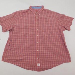 IZOD 3XL Orange Button Down Shirt  Cotton